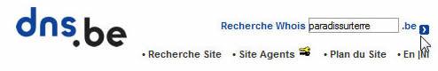 Vérification disponibilité domaine sur DNS.be