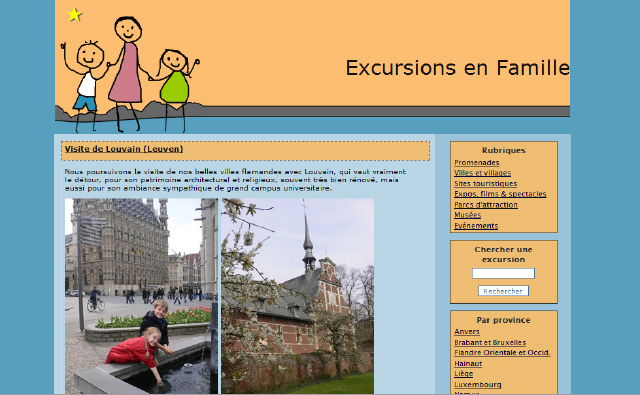 """Le blog """"Excursions en famille"""""""