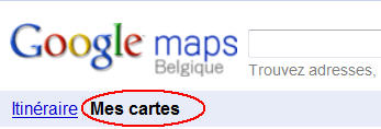 Mes cartes Google Maps