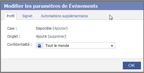 Confidentialite applications Facebook