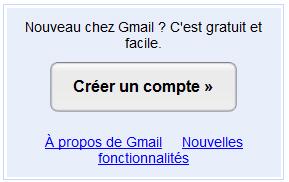 Création adresse Gmail