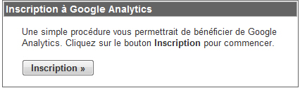 Inscription Google Analytics