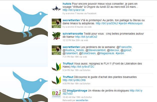 Exemple de page d'accueil Twitter