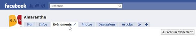 Création d'un événement sur Facebook
