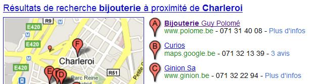 Commerce sur Google Places