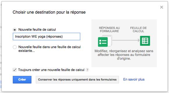 Créer un formulaire avec Google Docs