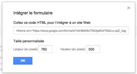 Insérer un formulaire Google dans son site