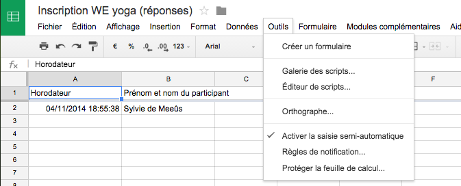 Formulaire Google : règles de notification