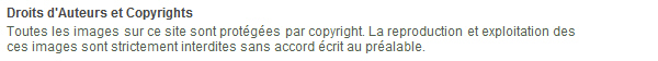 Mention de copyright