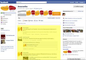 Page Facebook après