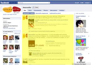 Page Facebook avant
