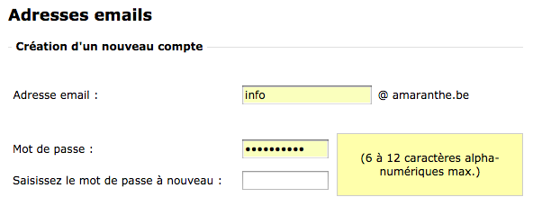 Créer adresse e-mail chez OVH