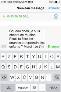 QR Code pour générer un SMS