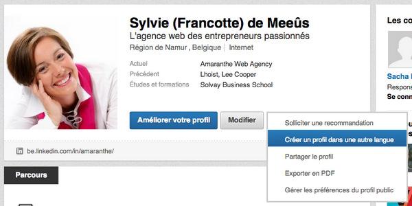 Profil LinkedIn en 2 langues