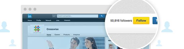 Suivre une page d'entreprise sur LinkedIn