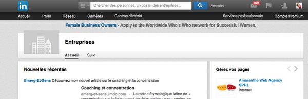 Gestion partagée de la page LinkedIn