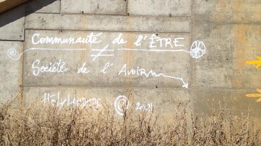 Citation taggée sur un mur : pourquoi pas ?