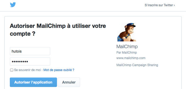 Lier MailChimp à Twitter