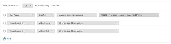 Relance des inactifs dans MailChimp