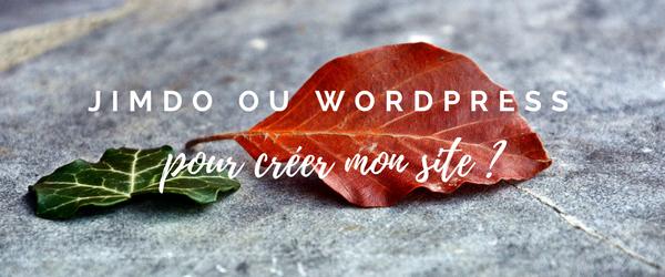 Jimdo ou WordPress pour créer mon site : que choisir ?
