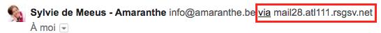 Expéditeur MailChimp avant authentification du domaine