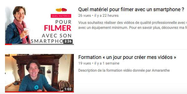 Miniature personnalisée YouTube