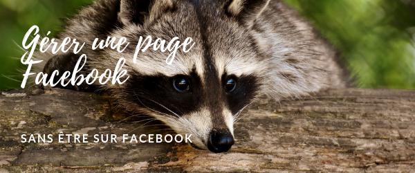 Gérer une page Facebook sans être sur Facebook